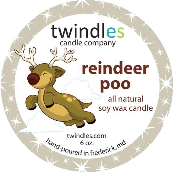 Bargain Bin | reindeer poo soy candle | 6oz. travel tin | 25+ hr burn time