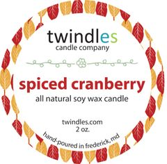 spiced cranberry soy candle | 2oz. travel tin | 12+ hr burn time
