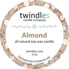 almond soy candle | 2oz. travel tin | 12+ hr burn time