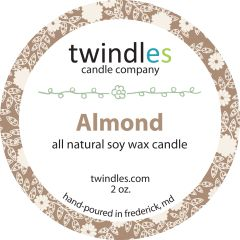 almond soy candle | 6oz. travel tin | 25+ hr burn time