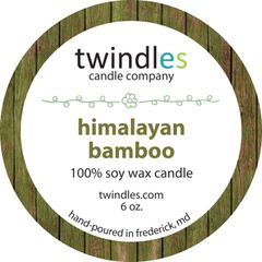 Himalayan Bamboo soy candle | 6oz. travel tin | 25+ hr burn time