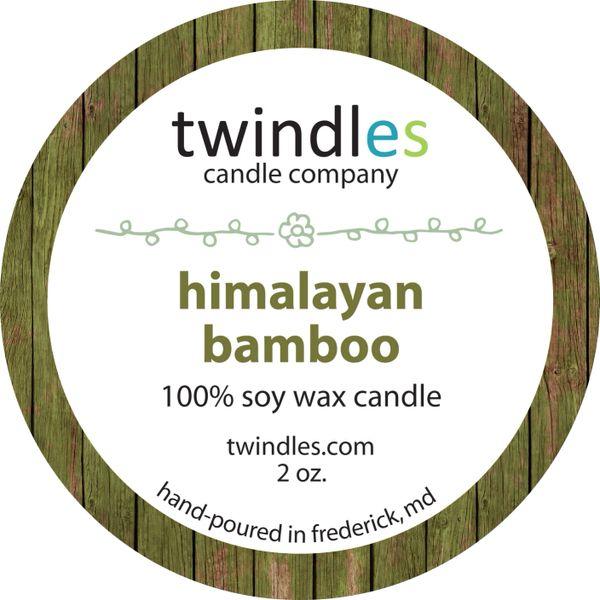 Himalayan Bamboo soy candle | 2oz. travel tin | 12+ hr burn time