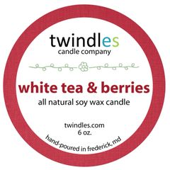 white tea & berries soy candle | 6oz. travel tin | 25+ hr burn time