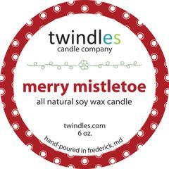 merry mistletoe 6 oz. tin