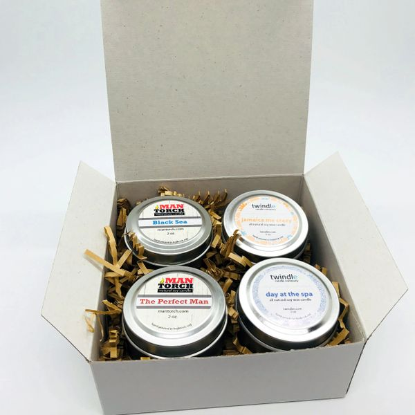 Gift Box | 4 - 2 oz. tins | 12 - 15 hr. burn time each