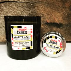 maryland soy candle | 2 oz. travel tin | 12+ hr burn time