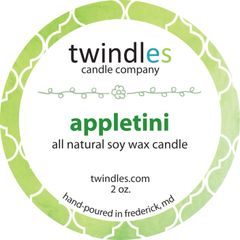 appletini soy candle | 2 oz. travel tin | 12+ hr burn time