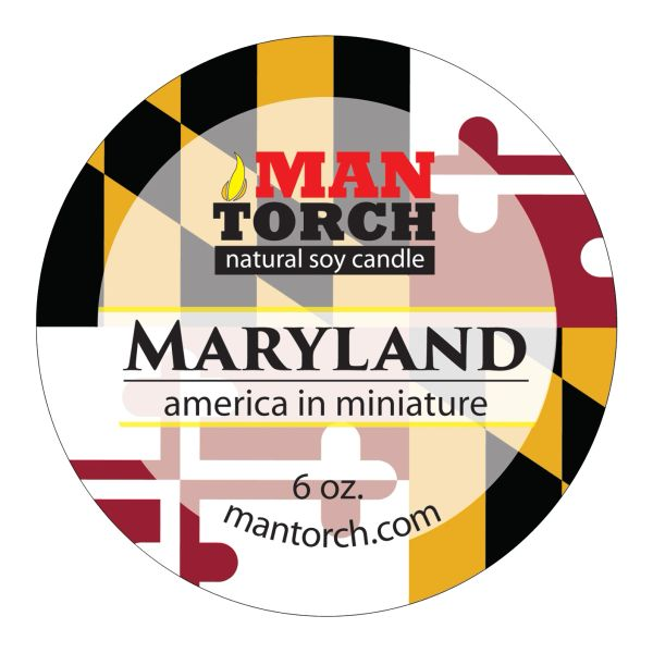 Maryland soy candle | 6 oz. travel tin | 25+ hr burn time