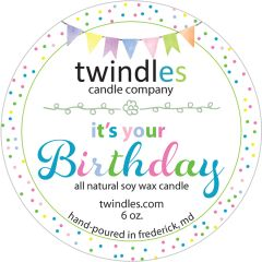 it's your birthday - 6oz. travel tin - 25+ hr burn time