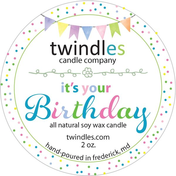 it's your birthday | 2oz. travel tin | 12 - 15 hr burn time