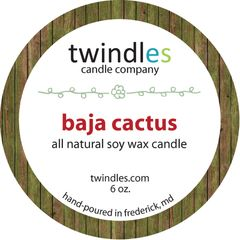 baja catcus - 6oz. travel tin - 25+ hr burn time