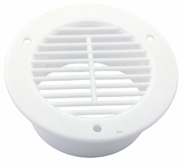 "4"" X 1-1/2"" White Side Flow Air Vent, L12-0017"