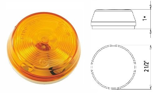 LED Marker Light, Amber 3 Diode, L14-0087A