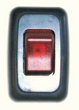 12 VDC Interior Switch, Single, On / Off, Contoured, Lighted