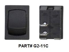 12 VDC Mini Switch, Momentary (On) / Off, Black