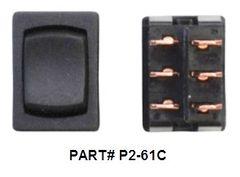 12 VDC Mini Switch, On / Off / On, Black