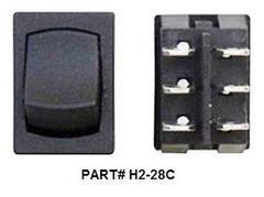12 VDC Mini Switch, On / Off, Black
