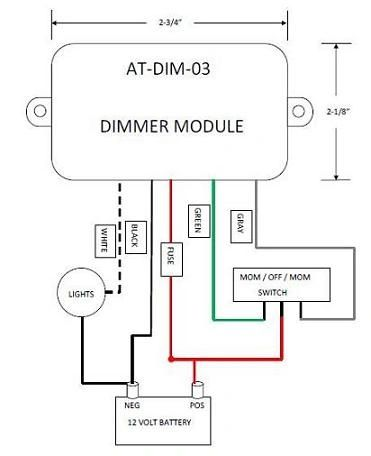 12 Volt Light Dimmer Module ATDIM03
