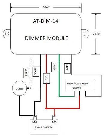 12 Volt Light Dimmer Module ATDIM14