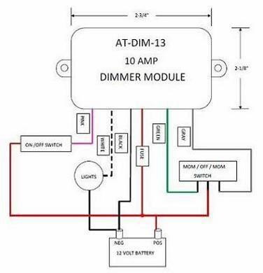 12 Volt Light Dimmer Module ATDIM13