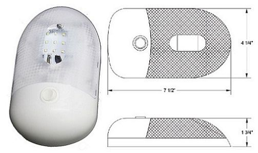 LED Single Ceiling Light Assembly, 9 LED, L09-0110