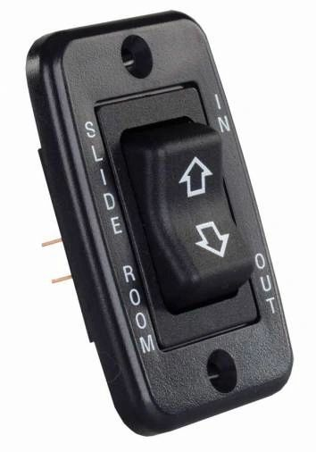 Black Low Profile Slide-Out Switch with Bezel 12355