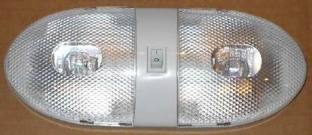 Double Ceiling / Bay Light, Double Bulb, White, L09-0094