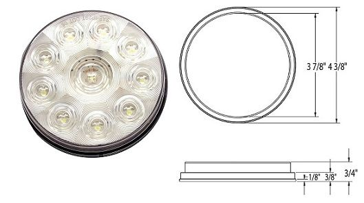 LED Backup Light, 10 LED, L03-0063