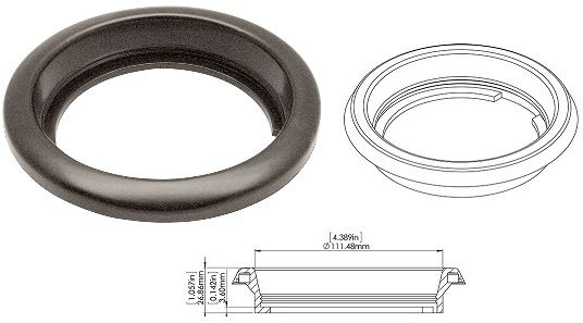 4 Inch Round Light Grommet 1T-G4