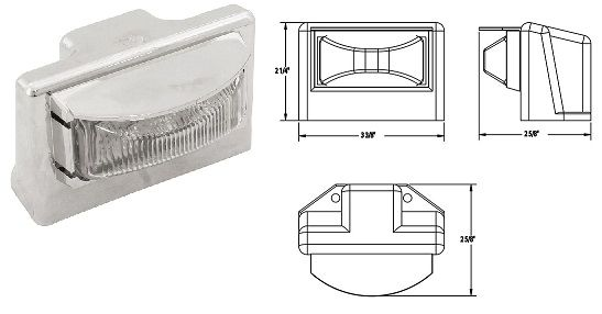 LED License Plate Lamp, 3 LED, L16-0021