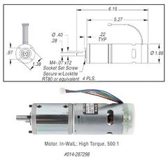 Lippert In-Wall Motor, High Torque 287298