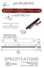 LED Third Brake Light, Flush Mount AT-LED-STL