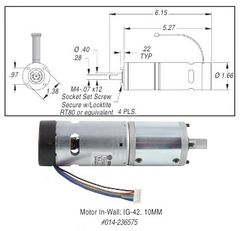 In-Wall Motor, Standard, IG-42, 10MM, 236575