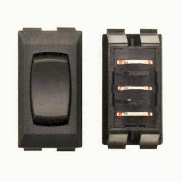 Black Slide Room Switch, Momentary / Off / Momentary