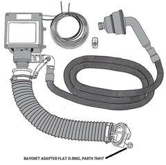 Sani-Con Bayonet Adapter Flat O-Ring 70417