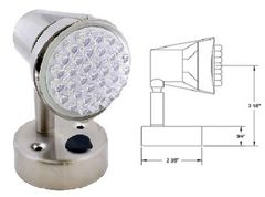 LED Reading Light, 36 LED, Satin Chrome Finish, L26-0068