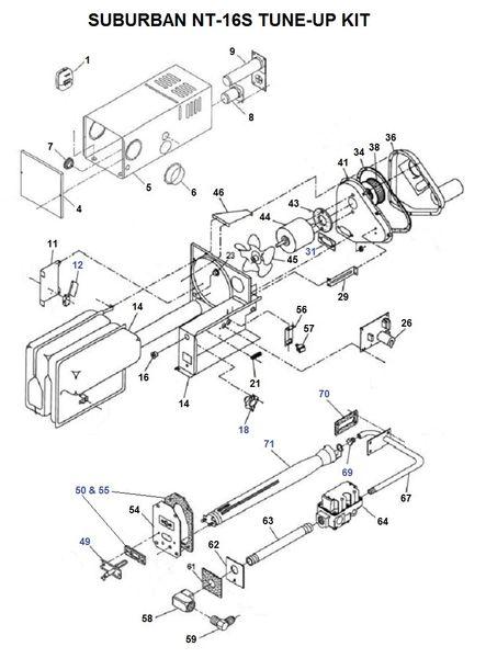 Suburban Furnace Model NT-16S Tune-Up Kit
