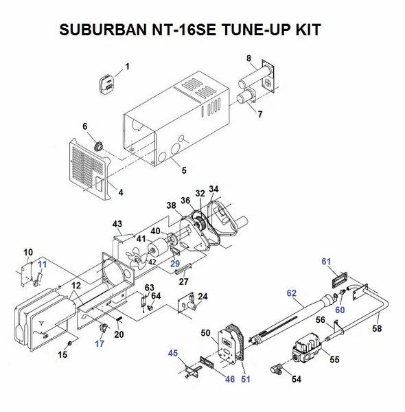 Suburban Furnace Model NT-16SE Tune-Up Kit