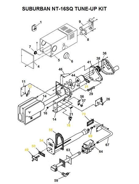 Suburban Furnace Model NT-16SQ Tune-Up Kit