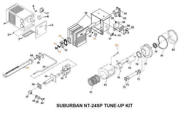 Suburban Furnace Model NT-24SP Tune-Up Kit