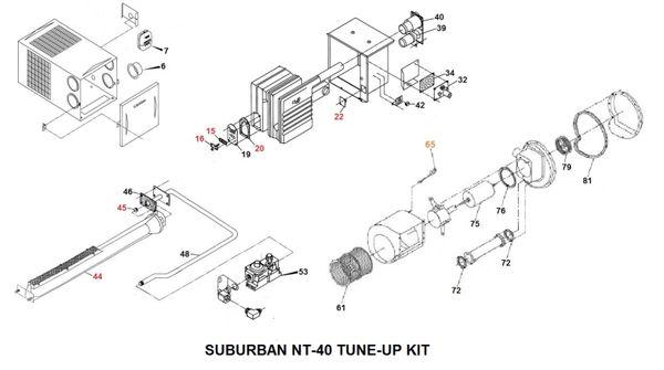 Suburban Furnace Model NT-40 Parts | pdxrvwholesalePDX RV LLC