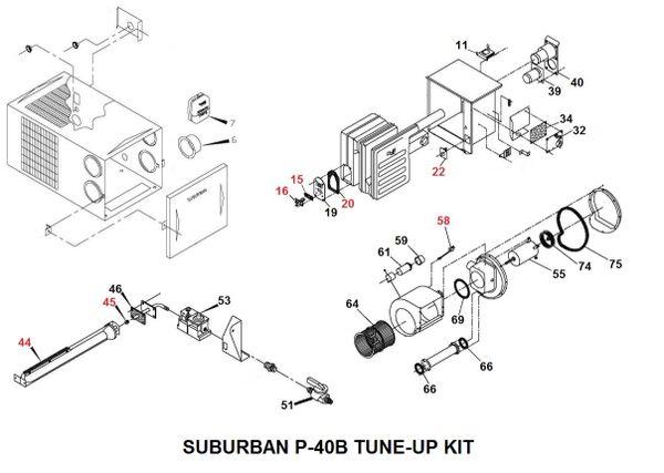 Suburban Furnace Model P-40B Tune-Up Kit
