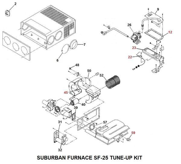 Suburban Furnace Model SF-25 Tune-Up Kit