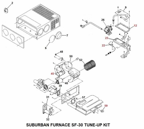 Suburban Furnace Model SF-30 Tune-Up Kit