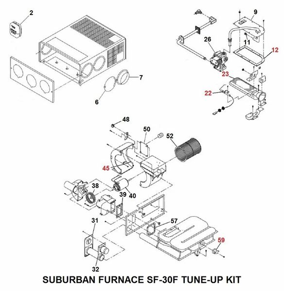 Suburban Furnace Model SF-30F Tune-Up Kit