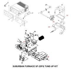 Suburban Furnace Model SF-25FQ Tune-Up Kit