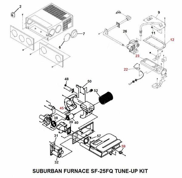 Suburban Furnace Model SF-25FQ Tune-Up Kit