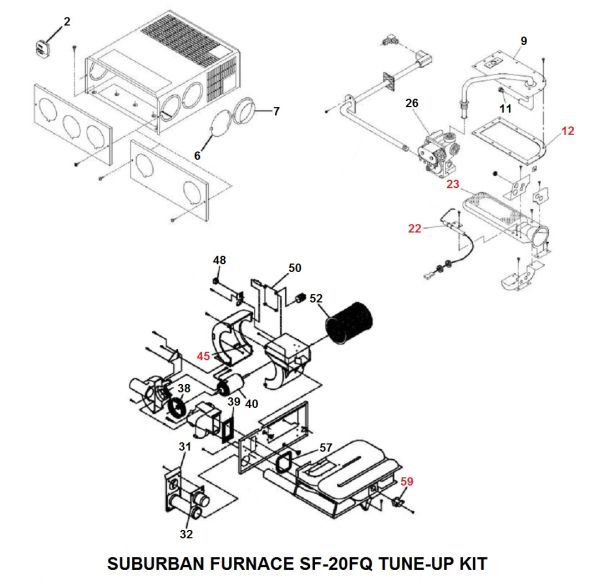 Suburban Furnace Model SF-20FQ Tune-Up Kit