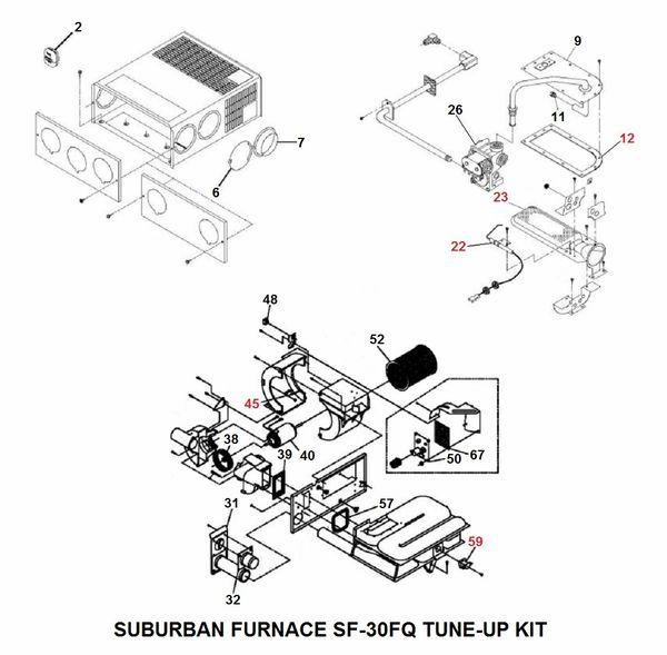 Suburban Furnace Model SF-30FQ Tune-Up Kit