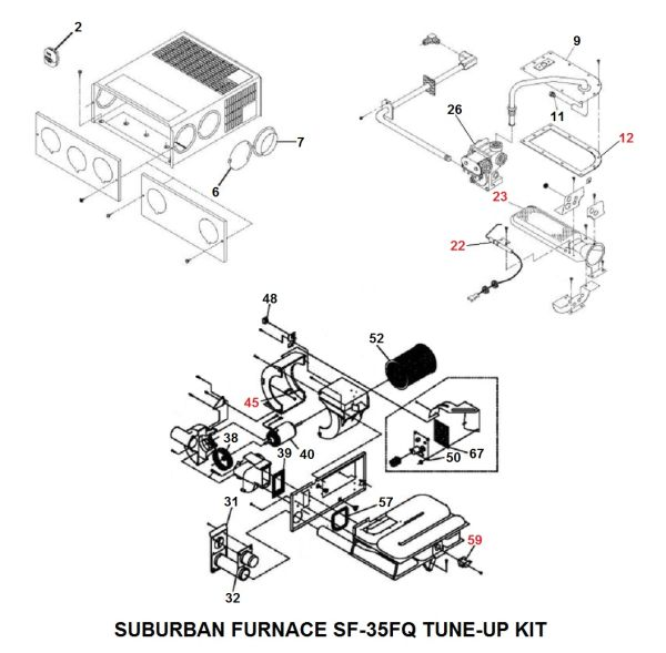 Suburban Furnace Model SF-35FQ Tune-Up Kit